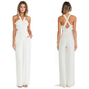 Lovers + Friends Adore You White Cut Out Jumpsuit
